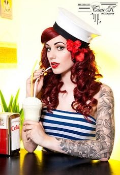 "Article =""Betty Leopard"": My Tattoo is not a Bumper Sticker, It's a Custom Paint Job. Photo of     Cervena Fox (photo byTina Korhonen, taken from facebook)"
