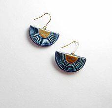 Náušnice - Tana šperky - keramika/zlato - 8222564_