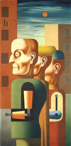 Three invalids by German artist Heinrich Hoerle Private collection, courtesy of the National Gallery of Victoria. Art Club, Modern Art, Activist Art, German Expressionism, Degenerate Art, Time Art, Art, Magic Realism, German Art