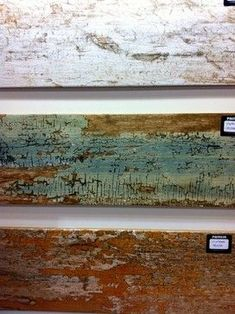 Gorgeous TILE that looks like reclaimed wood!! Would love to replace all my ugly ceramic tiles with this!: