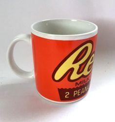 Reeses Peanut Butter Cups Mug Food Advertising Hershey Milk Chocolate Coffee Cup
