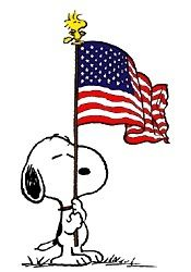 Waving flag Fahne USA patriotic of July animated Snoopy Dog Charlie Brown alphabet gif photo by miss_minty