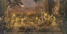 SUMMER PROCESSION (Unframed Signed 36x18 Giclée Print) Fairy Art / Faery Art  by David Delamare
