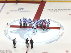 1980 USA Hockey team at the coyotes game.