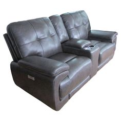 Barcalounger Viktor Power Loveseat with Console - 24-3049-3447-95