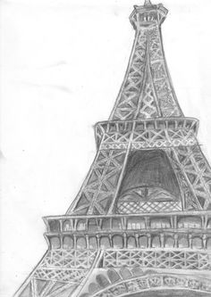 eiffel tower drawing and sketches (15)