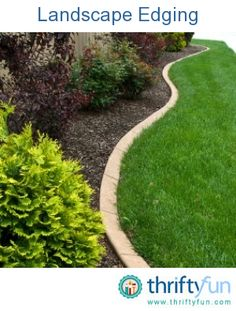 This guide is contains creative ideas for landscape borders. Choosing the perfect edging for your yard can make lawn care easier.