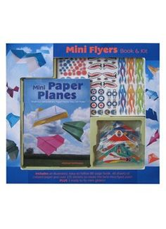 Calling all Paper Airplane Flyers: Now tell me the truth -- did you make and fly paper airplanes as a kid? This colorful set of sophisticated patterns will quickly catapult you to master paper airplane folder. I guarantee you!!  Mini Flyers Kit by Mud Puddle http://www.amazon.com/dp/1603110496/ref=cm_sw_r_pi_dp_l6FCub1J7RNSN