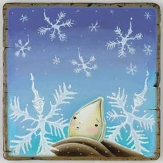 How it feels to be in the snow and cold today.  Illustration ©Tim Zeltner for children's picture book, Little Boo.
