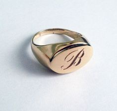 Pinky Ring Signet Ring MAN ring men ring Gift for by ShilaJewelry