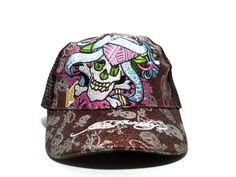 wholesale snapbacks hats Ed Hardy Skull Love Kills Slowly Mesh Caps ID 0968 Mesh  Cap 408958f00857
