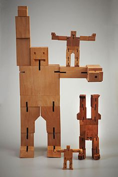 Cubebot Extra Large Natural Wood