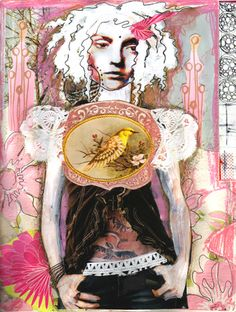 Feed Your Soul Art: Art Journaling Pages: Featuring Anahata Katkin