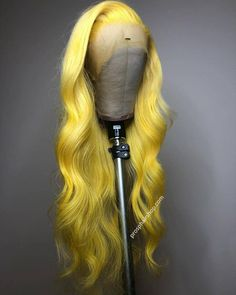 Wiccawigs Customized Yellow Color Glueless Lace Front Wigs Brazilian Remy Long Silk Straight Full Lace Wigs With Baby Hair Baddie Hairstyles, Weave Hairstyles, Bandana Hairstyles, Teen Hairstyles, Casual Hairstyles, Black Hairstyles, Lace Front Wigs, Lace Wigs, Curly Hair Styles