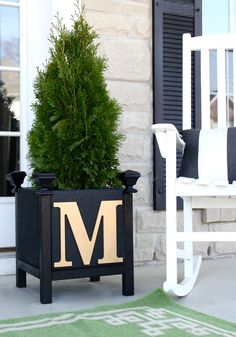 DIY Monogram Paver Planter