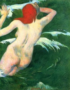 In the Waves, 1889. Paul Gauguin