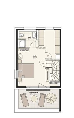 Doppelhaus Sinus | INTERHOMES AG Small Homes, Bungalow, Berlin, Floor Plans, Flooring, How To Plan, Country, House, Home Decor