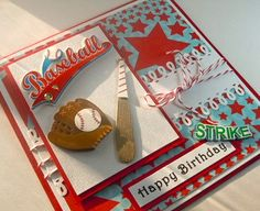 Birthday Card   Handmade baseball theme for boy by | http://cutegreetingcards.blogspot.com