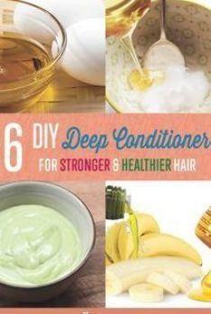 6 DIY Deep Conditioner Recipes Homemade Deep Conditioner, Diy Conditioner, Deep Conditioner For Natural Hair, Natural Beauty Tips, Natural Hair Care, Natural Hair Styles, Luscious Hair, Home Remedies For Hair, Hair Remedies