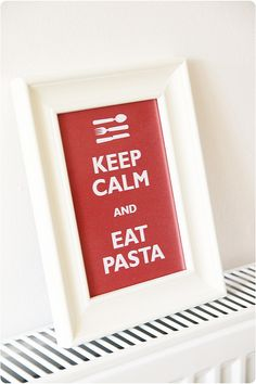 keep calm and eat pasta by countrykitty, via Flickr