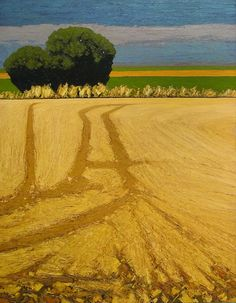 Jeffrey Pugh, Tracks (2009). Bright yellow fields lead you to those deep dark shadows! Fantastic value study!