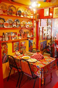Bright Old Things. The Selby x Selfridges « the selby Bohemian Interior, Interior Styling, Hacienda Kitchen, Valspar Colors, Camper Decorating, Interior Decorating, Kitsch, Happy Colors, Art Studios