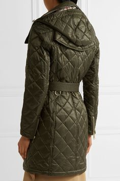 Burberry - Hooded Quilted Shell Jacket - Army green - x large