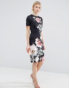 ASOS Petite | ASOS PETITE T-Shirt Bodycon Dress with Photographic Floral Placement Print