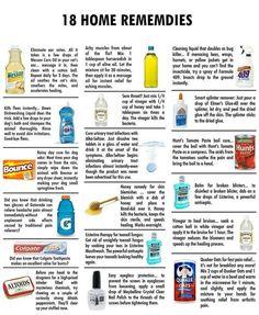 Home remedies.