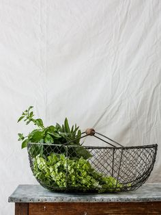 My French Country Home, French Country Kitchens, Large Wire Basket, Wire Baskets, Types Of Rooms, Wooden Handles, Decoration, Rustic Decor, Farmhouse Style
