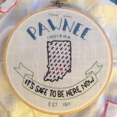 notes from the learning process: I tried a few options for the fill stitch I used before settling on those dotted lines; annoyingly, they left marks on the fabric. This is sewn on a vintage napkin (probably linen or a linen-cotton blend?) from a big bag of vintage household linens someone gave me. They're really nice to embroider on; thankfully I have a few left.   I like how this turned out but it's a little more Welcome to Night Vale than planned, mostly because I couldn'...