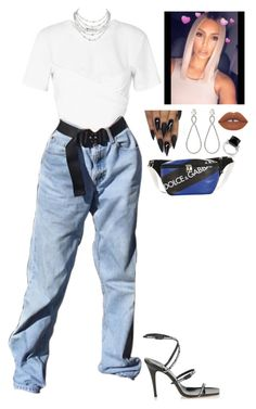 """""""Untitled #1305"""" by sounusual1 ❤ liked on Polyvore featuring T By Alexander Wang, Jimmy Choo, Dolce&Gabbana, Gucci, Miu Miu and Lime Crime"""