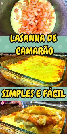 LASANHA DE CAMARÃO #lasanhadecamarao #lasanha #camarao #cozinha #receita #receitafacil #receitas #comida #food #manualdacozinha #aguanaboca #alexgranig