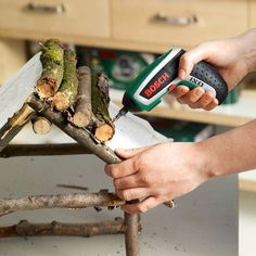 Make aviary from Astwerk Homemade Bird Houses, Bird Houses Diy, Fairy Houses, Bird House Feeder, Bird Feeders, Bird Boxes, Garden Crafts, Woodworking Tips, Diy Crafts For Kids