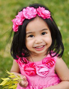 Sweet Pink Flower Bloom Headband Birthday by TresMariposasCouture, $12.99