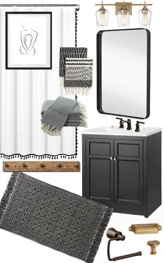 Affordable bathroom decor for the perfect vintage modern bathroom makeover! Affordable bathroom decor for the perfect vintage modern bathroom makeover! Modern Bathroom Decor, Hall Bathroom, Bathroom Furniture, Modern Decor, Bathroom Ideas, Antique Furniture, Bathroom Designs, Bathroom Vintage, Bathroom Organization