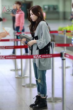 Taeyeon Airport fashion