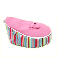 Baby bubble bean bag stripey pink