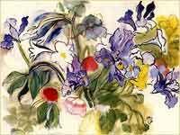 Raul Dufy, Poppies and Irises