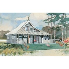 Beach Bungalow | If you've ever dreamed of building a little cottage by the sea, you've got to see these charming house plans, all less than 1,200 square feet.