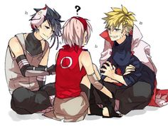 Sasuke and Sakura anbu | Tags: Anime, Fanart, NARUTO, Haruno Sakura, Uzumaki Naruto