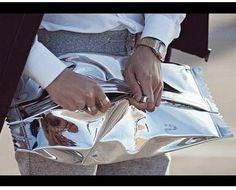 2013 original da maison martin margiela espelho saco de doces de papel de bala wrappers modelo embreagem mulheres mmm bolsa frete grá...