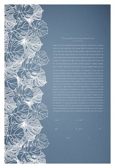 Papercut Ketubah - Tropical Flora