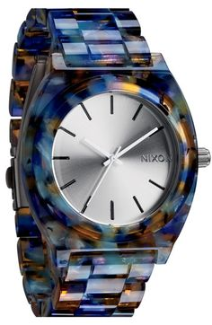 Nixon 'The Time Teller Watercolor' Watch