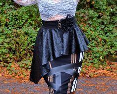 Plus Size Peplum Belt  Faux Leather by SpoiledDiva on Etsy