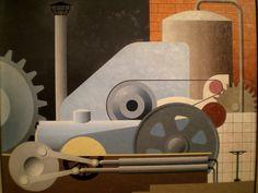 Paul Kelpe (German-American, 1902-1985)   'Machinery', 1934, Chazen Museum of Art, Madison, Wisconsin