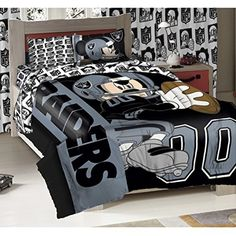 Oakland Raiders NFL and Disney Mickey Mouse Comforter Set Twin Mickey Mouse Comforter, Mickey Mouse Bed Set, Disney Bedding, Nursery Bedding Sets Girl, Kids Bedding Sets, Comforter Sets, Target Bedding, Cheap Bed Sheets, Bed In A Bag