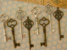 20 squelette clés passe-partout en vrac clés par GlowberryCreations