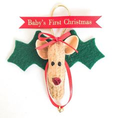 My mom has made these sweet Reindeer for years and now were sharing them with you!  Add one to your Santa baby shoe order today! Use code REINDEERBUNDLE to snag this ornament for only $5!  #Raspberriez