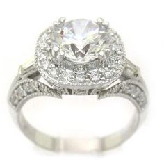14k white gold round cut diamond engagement ring antique by KNRINC, $5100.00 by betty